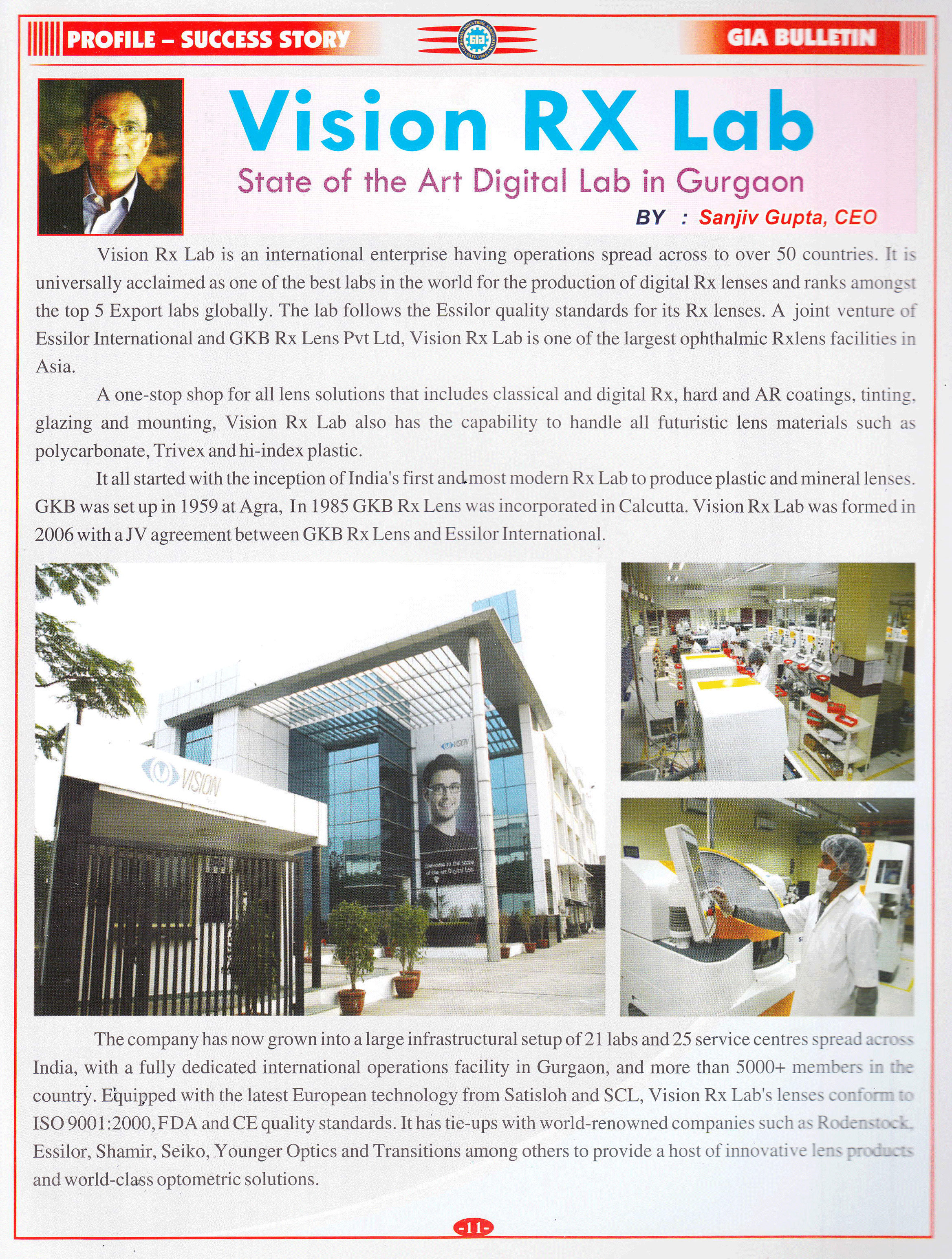 Vision Rx Lab- State of the Art Digital Lab in Gurgaon